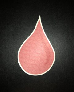 Blood Drop Designed precut adhesive patch to secure all diabetic devices