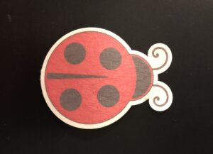 Lady Bug Designed precut adhesive patch to secure all diabetic devices