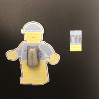 Figurine Designed precut adhesive patch to secure all diabetic devices