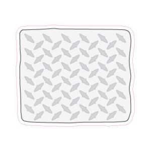 Diamond Plate Designed precut adhesive patch to secure all diabetic devices