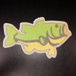 Largemouth Bass Designed precut adhesive patch to secure all diabetic devices