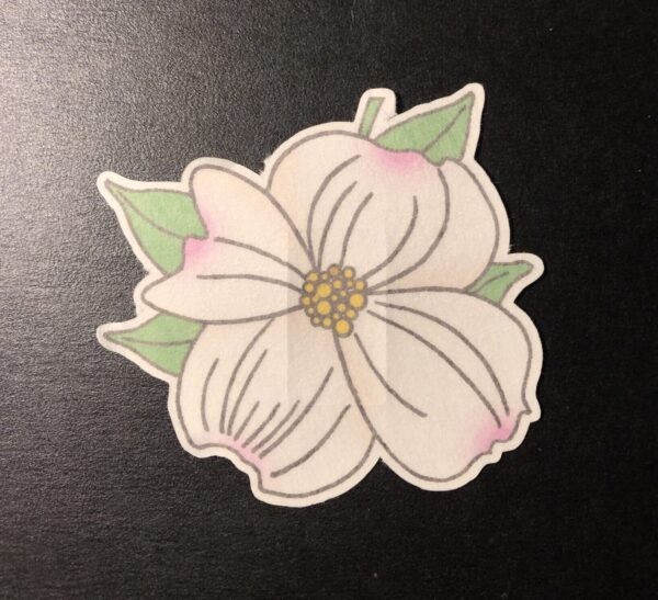Dogwood Flower Designed precut adhesive patch to secure all diabetic devices