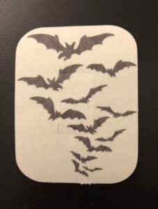 Halloween Flight of Bats Designed precut adhesive patch to secure all diabetic devices