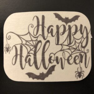 Happy Halloween Designed precut adhesive patch to secure all diabetic devices
