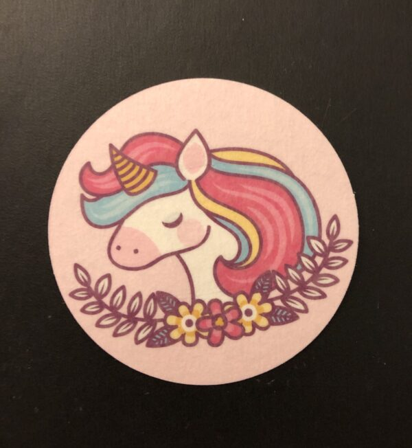 Cute Unicorn Designed precut adhesive patch to secure all diabetic devices