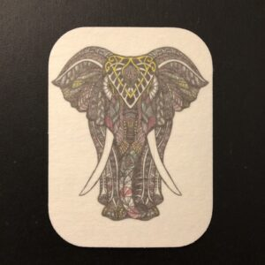 Zen Elephant Designed precut adhesive patch to secure all diabetic devices