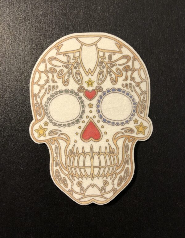 Sugar Skull 2 Designed precut adhesive patch to secure all diabetic devices