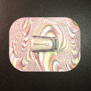 Colors Designed precut adhesive patch to secure all diabetic devices