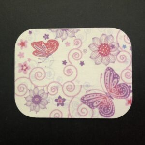 Butterflies & Flowers Designed precut adhesive patch to secure all diabetic devices
