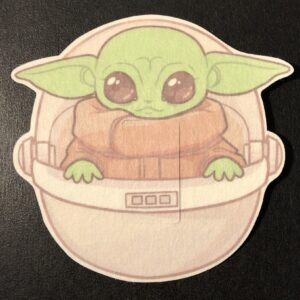 Baby Yoda Designed precut adhesive patch to secure all diabetic devices