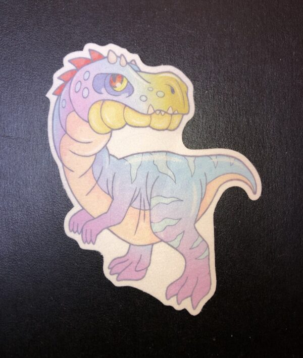 Cute Dinosaur Designed precut adhesive patch to secure all diabetic devices